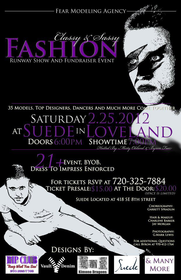 Fear Modeling Fashion Show Flyer